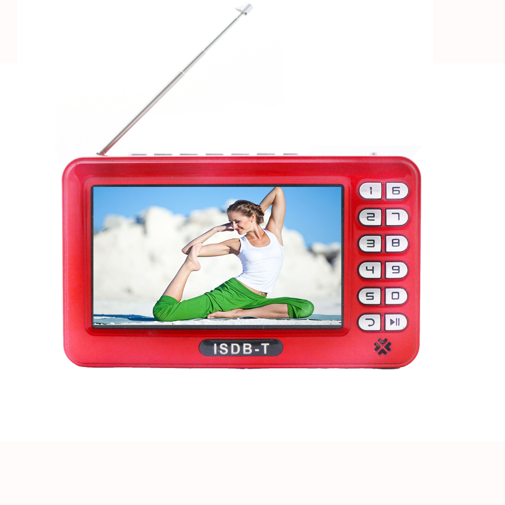 4.3 inch Outdoor Kleine Digitale DVB T2 Handheld Led TV Monitor Draagbare Mini Pocket TV