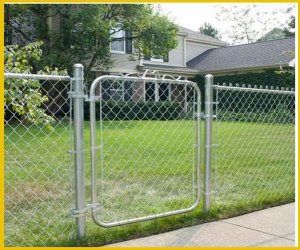 3 Ft 5 In X 4 Ft Galvanized Chain Link Walk Through