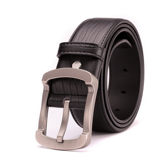 Belts Leather Men Design Waistband Brand Fashion Strap Buckle 2015 New Business Black Male Belt cinturones hombre EHY366