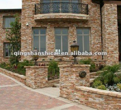 Villa Exterior Wall Decoration Stone,Decorative Wall Mount Fans ...