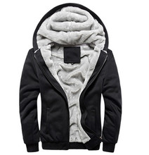 Men's Fleece Hooded 2015 Best-selling Baseball Uniform Plus Hair Thickening Of Men's Sportswear Arm And Velvet Coat Freeshipping