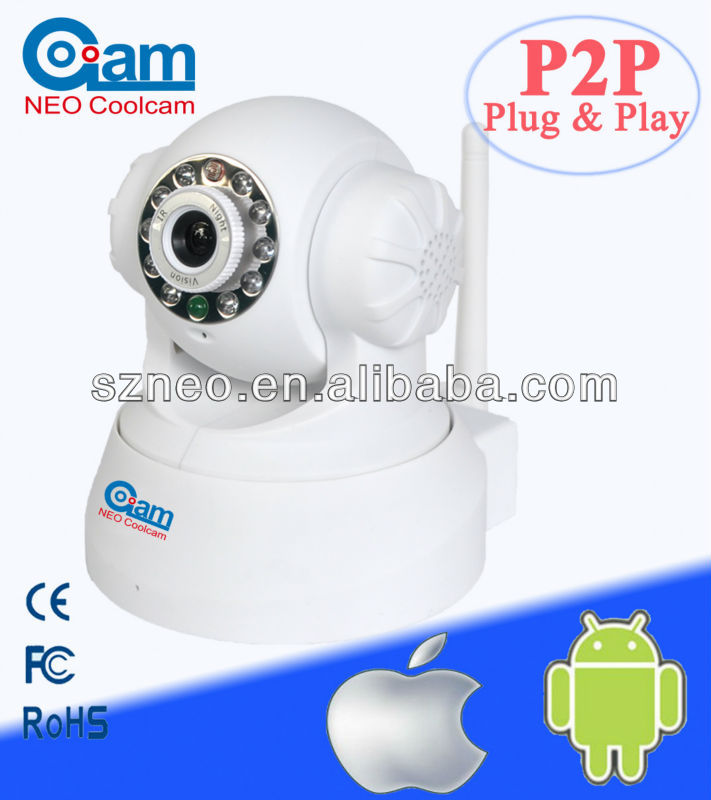 Mini wif Pan/Tilt nightvision baby moitor security Wireless P2P IP camera NEO coolcam