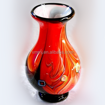 Hand Blown Red Antique Murano Vases Large Glass Buy Vases Large