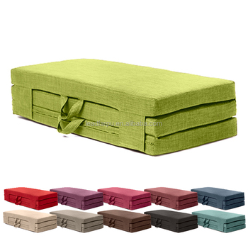 Fold Out Guest Mattress Foam Bed Single Double Sizes Futon Z Folding Sofa