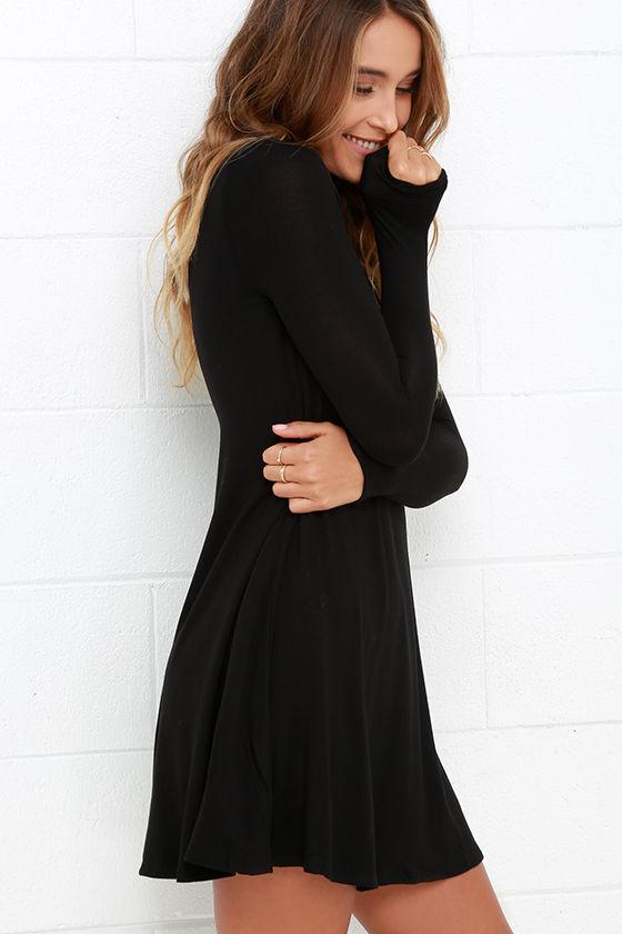 Womens Wholesale Elegant Long Sleeve Sway Hem High Neck Skin Tight