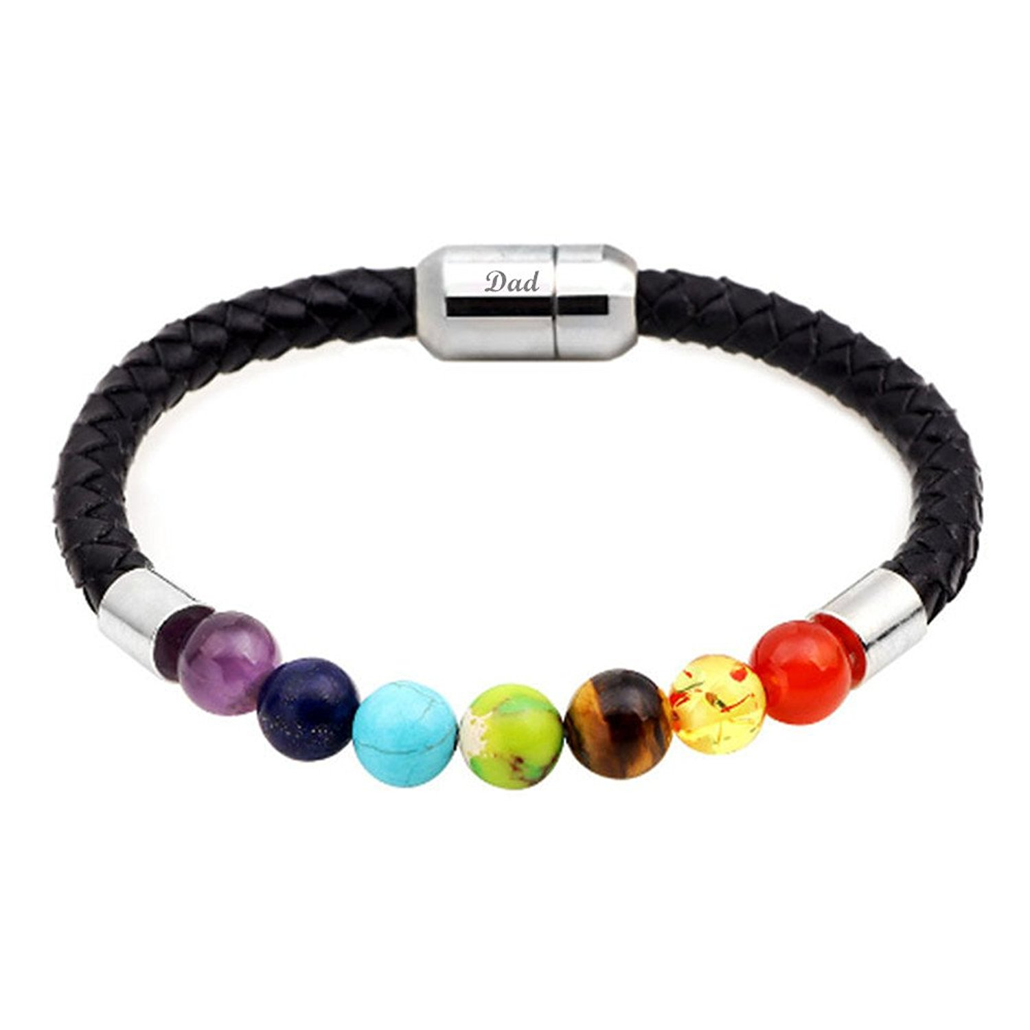 Cheap Vip Dad Find Deals On Line At Alibabacom Scooter Keychain Get Quotations Lifashion Lf Dads Bracelet Rosary Yoga 7 Chakras Natural Stone Genuine Braided Leather Magnetic Clasp Healing
