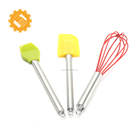 Best Baking Tools for Pastry Materials 3pcs Spatulas Whisk Brush Silicone Baking Set