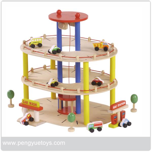 Juguete parking garaje parking lot de madera juguetes otros y hobby identificaci n del - Parking de madera ...