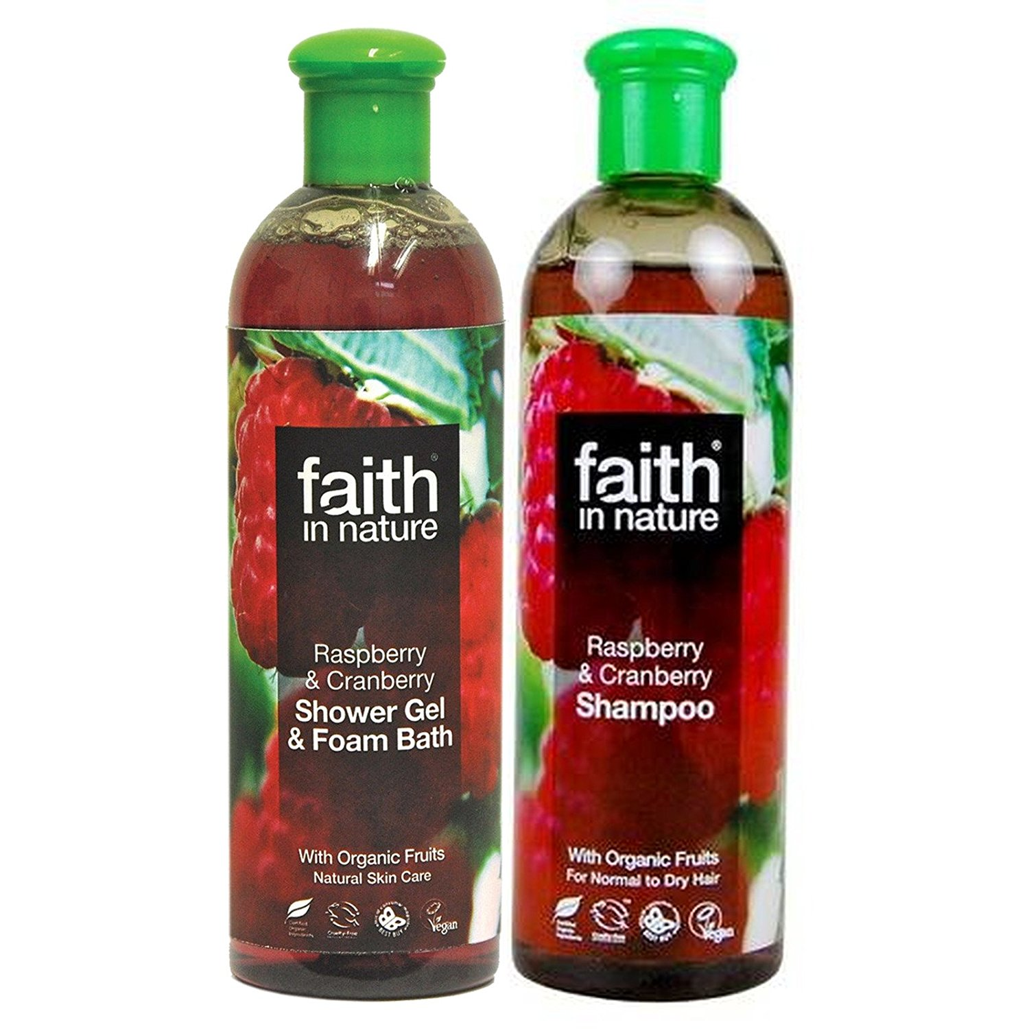 Faith in Nature - Raspberry & Cranberry Shampoo & Shower Gel