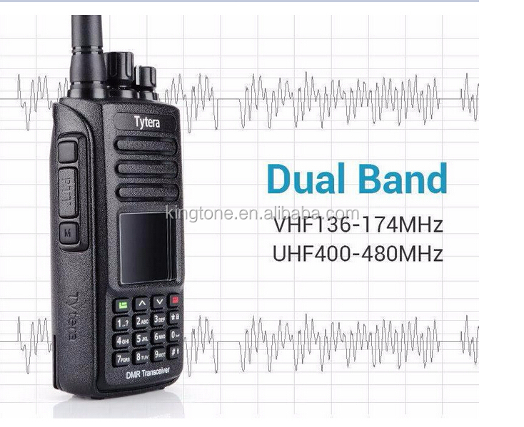 TYT GPS IP 67 GPS waterproof DMR radio MD-390 Digital 2way Radio UHF 400-480MHz Tytera DMR Walkie Talkie with Pro Cable
