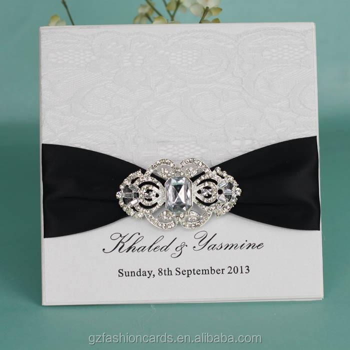 2015 Latest Elegant Cheap Indian Muslim Wedding Invitations