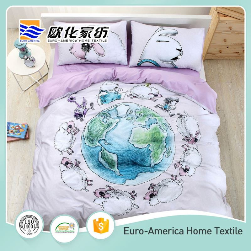 Big Production Ability 3d Animal Cotton Printed Hotel Bedding Set