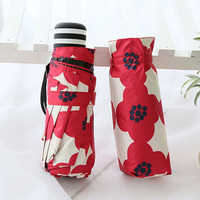 5 folding super mini pocket umbrella with case