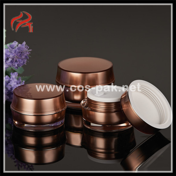30g 50g light color drum shaped cosmetic jar, drum glass bottle, drum plastic jar