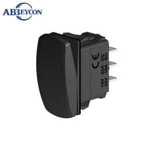 MS067 DPDT ON-OFF-ON 6P Non-illuminated 3 pin rocker switch