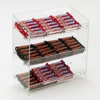 3 Tier Clear Acrylic Confectionary Display Rack Candy Chocolate Display Stand Holder