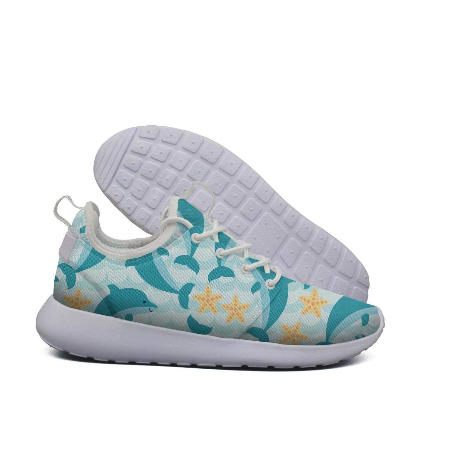 Hoohle Sports Womens Dolphin Baby Set Flex Mesh Roshe 2 Lightweight Breathable Cross-Country Running Shoes