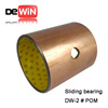 Factory supplied drawing customized dx bushing oilite dushing dry bearings motor bushing