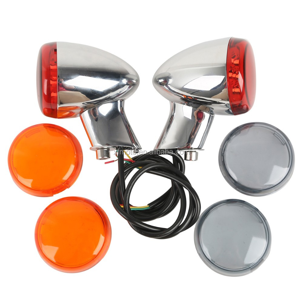 Quality Black Rear Turn Signal Light Red For Harley XL883 XL1200 Sportster 92-UP