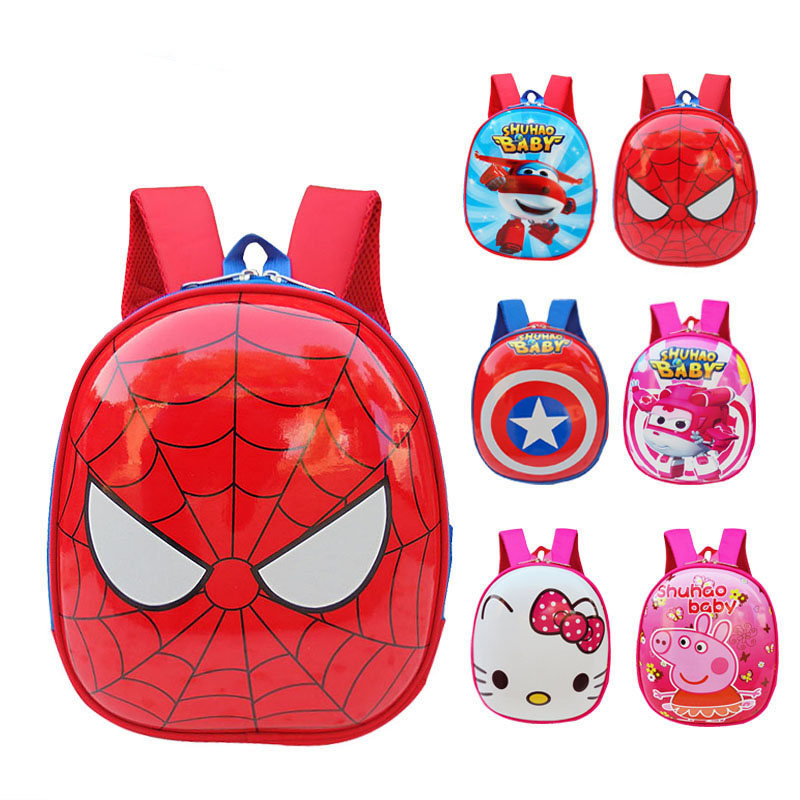 2017 New stylish children cartoon eggshell schoolbag cute bag boy and girl kindergarten backpacks <strong>school</strong>