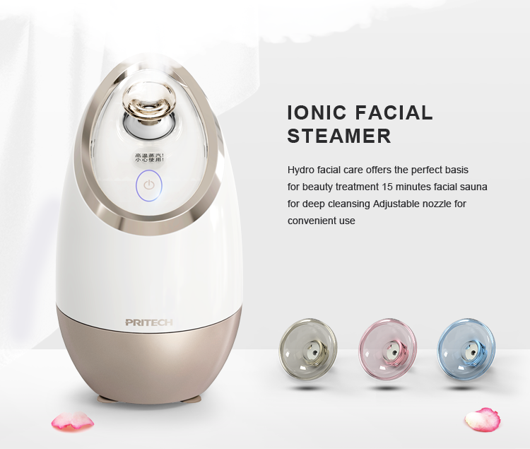 PRITECH Professional Popular Products Ozone Facial Steamer, Portable Spa Electric Facial Steamer