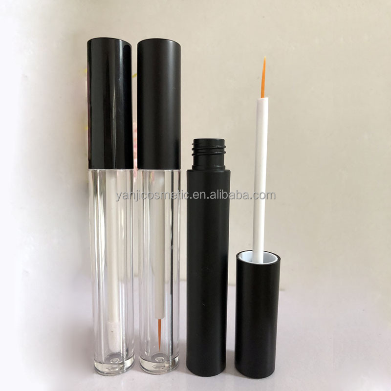 In stock!!! Prompt Goods 5ml black cap clear plastic empty cosmetic eyeliner <strong>tube</strong>/mascara <strong>tube</strong>/lip gloss <strong>tube</strong>