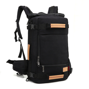 2018 New Arrival Black Blue Polyester Cotton Hiking Waterproof Outdoor Backpack