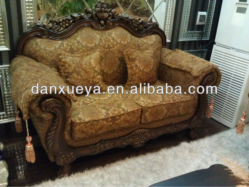 Personalizar sofá de madera tallada victoriano sofá loveseat ...