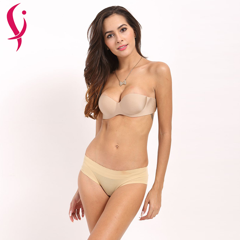 af93d5348cc44 Vogue Secret Sexy Push New Up Bras Bralette Underwear Women Silicone  Strapless Bra Invisible Wedding Bra