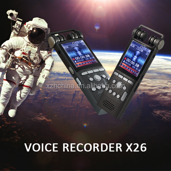HD personal digital voice recorder, 60 meters audio pick up,Build in 8GB,Dual micphone,dual core stereo noise