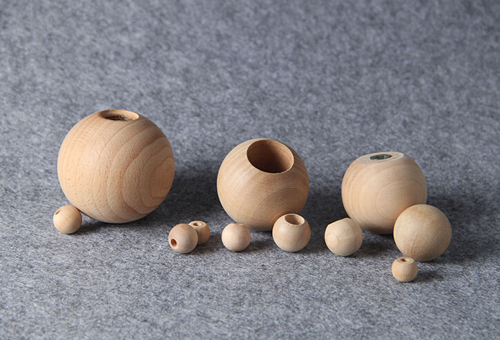 45mm Natural Round Wooden Cabinet Knob,Unfinished Wood Knob For ...