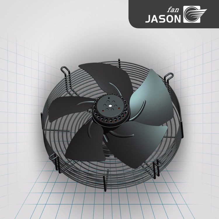 Diameter 300mm Power Transformer Cooling Fan Sickle Impeller Fan