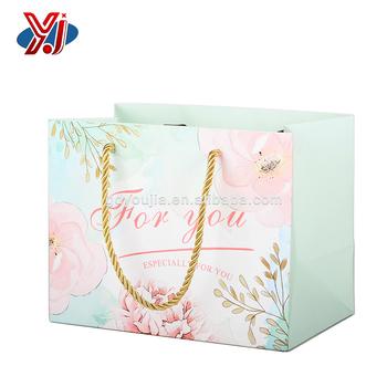wholesale custom logo print colorful gift bag paper shopping bag
