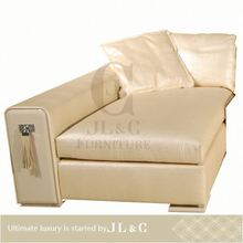 JS17-31 The best selling Tassels white genuine leather left sofa lounge from china supplier-JL&C Furniture