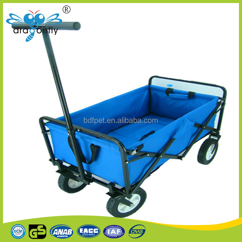 600D Oxford beach trolley cart Strong handle folding utility cart