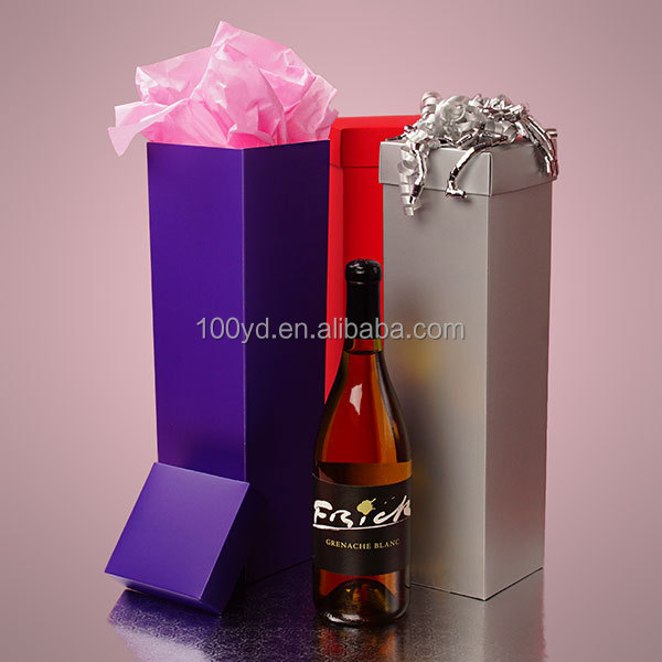 Promotional Deluxe Colored Sand Finish Semi-gloss Wine Boxes
