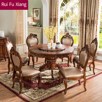 Stupendous Wooden Round Dining Table With Leather Chairs For Dining Room Furniture Aa 217 Buy Wooden Round Dining Table Leather Chairs Dining Room Furniture Gmtry Best Dining Table And Chair Ideas Images Gmtryco