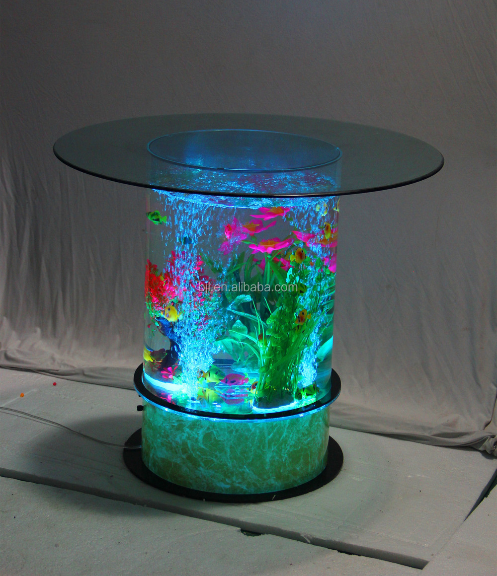 Led lighting acrylic aquarium bar cafe restaurant decoration buy coffee table aquarium led - Table basse aquarium design ...