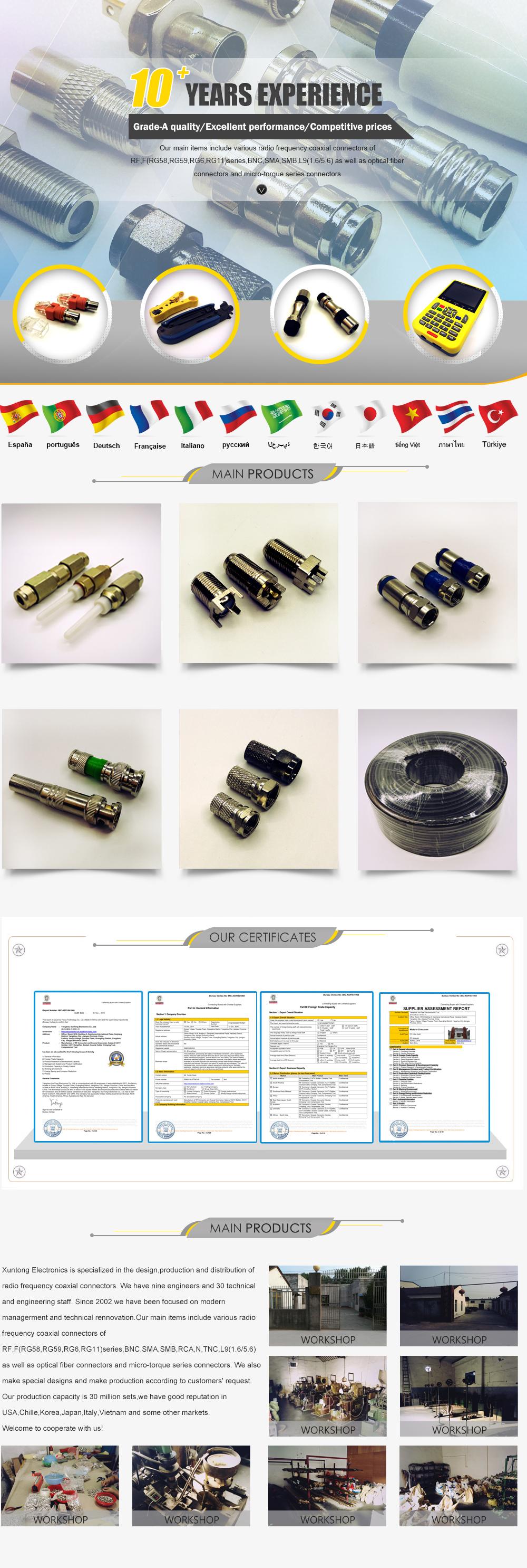 Yangzhou Xuntong Electronics Co., Ltd. - Coaxial connectors,RJ45 ...