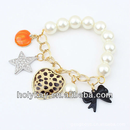 new product ! white pearls with small jewelry dynamic bracelet