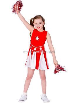 b4061138b2 Rojo High School Musical cheerleader niñas uniforme nuevo traje bailarina  niños BC12361