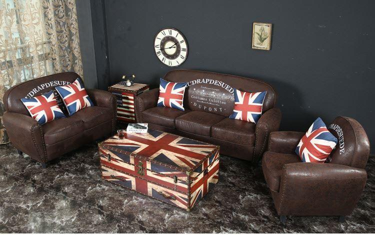 8001 nordic mittelalterlichen stil kupfer nagel baumwolle leder pu grossen runden holz sofa wohnzimmer mobel