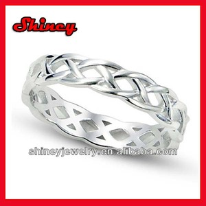 925 Sterling Silver high polish 2017 Knot Eternity Band Ring