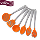 amazon hot sale stainless steel silicone dining kitchen utensils set for kit