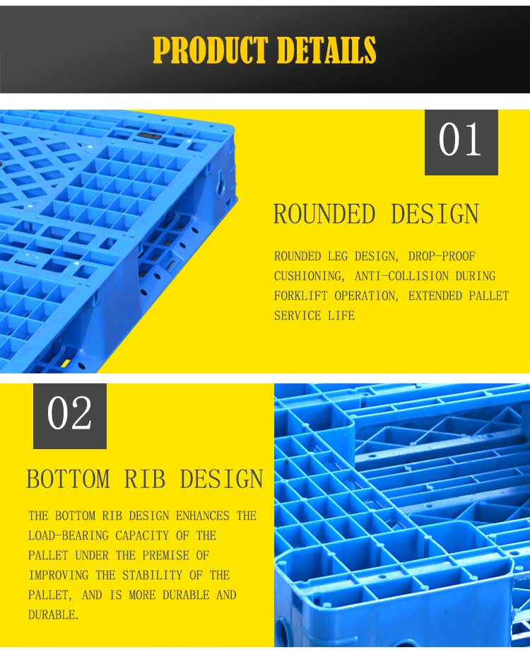 single faced recycled 1000x1000 plastic pallets