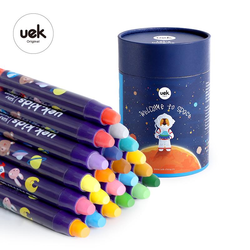 Uek дети рисунок Лидер продаж пользовательские логотип карандаш воск