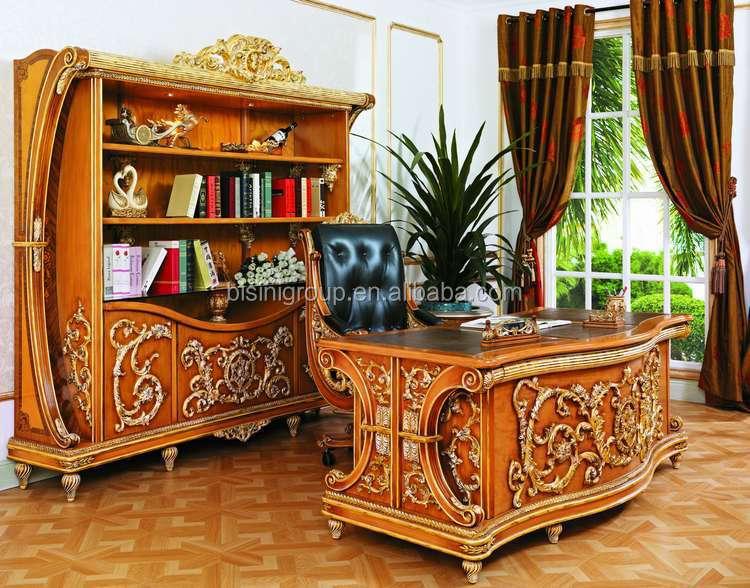 Classic Office FurnitureAntique Hand Carved Office Desk Furniture