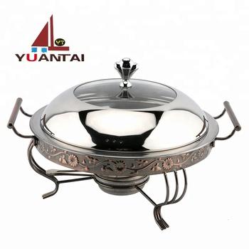 Wholesale luxury stainless steel chafing dish buffet chafing dish and stainless steel food warm used for hotel restaurant
