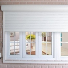 Roll up aluminium window with auto roller shutter motor