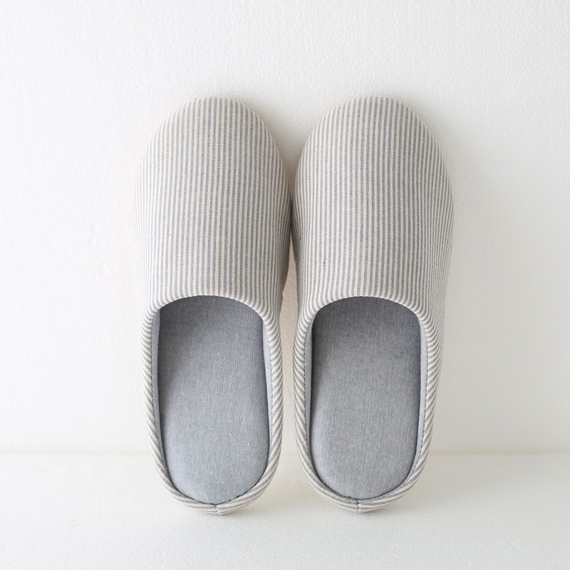 Hot Sales Cheap Winter Women Men Striped Indoor <strong>Slippers</strong> Home Anti Slip Winter Soft Warm House <strong>Slippers</strong>